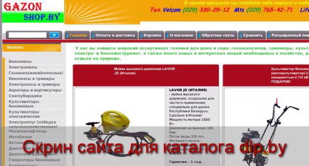 Двигатели бензиновые -> Новый магазин - gazon.shop.by
