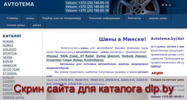 ЛЕТНИЕ  ШИНЫ R15 - www.avtotema.by