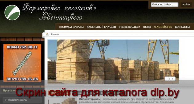 Скрин сайта - lestorg.by  для dlp.by