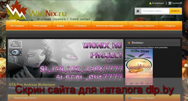 Скрин сайта - wionix.ru  для dlp.by