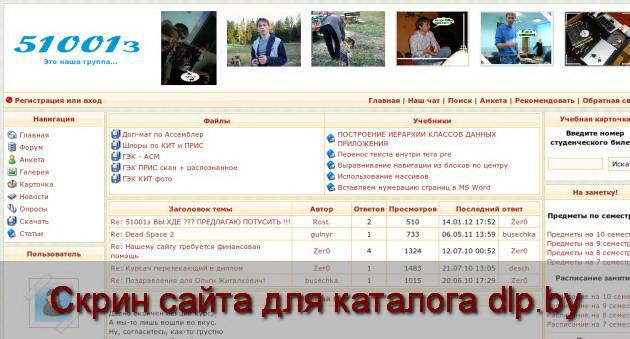Скрин сайта - www.51001.net.ru  для dlp.by