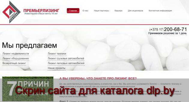 Скрин сайта - www.premier.by  для dlp.by